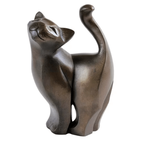 Standing Cat Cold Cast Bronze Sculpture